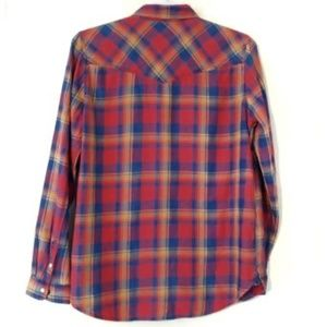 American Eagle Outfitters Tops - American Eagle Outfitters Plaid Snap Front Shirt
